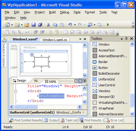 VS.NET08 WPF Designer